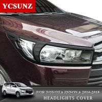 2016-2019 передние фары Крышка для Toyota Ki Jang Innova фары Запчасти для Toyota Innova 2016 2017 2018 2019 Ycsunz