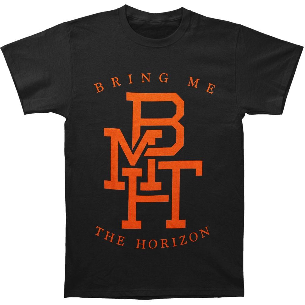 Camiseta divertida para hombre nueva camiseta de manga corta para mujer tráeme el horizonte Logo Camiseta ajustada
