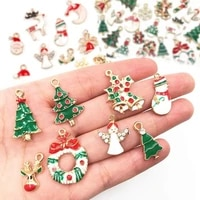 1920pcs mixed metal enamel charms christmas pendants ornaments beads for bracelet earrings jewelry making xmas tree decoration