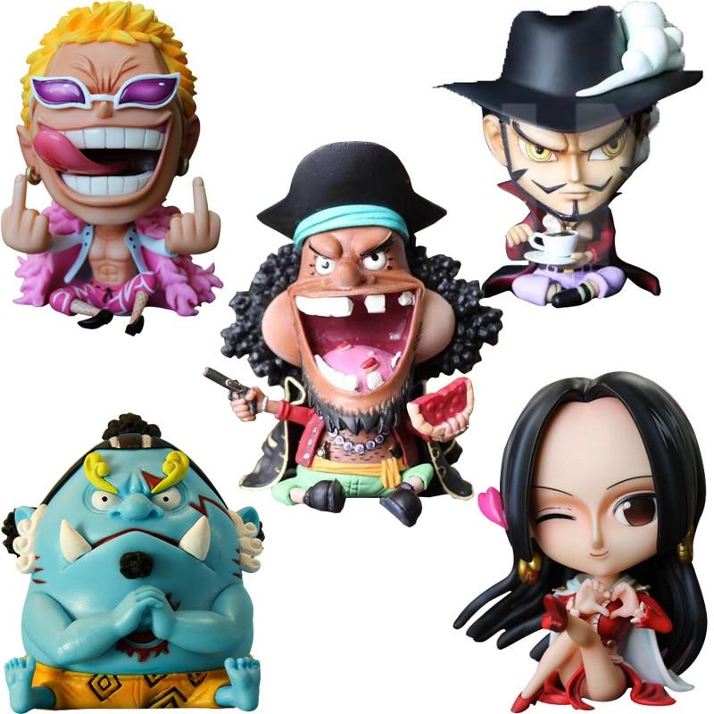 10cm One Piece Donquixote Doflamingo Marshall D Teach Jinbe Boa Hancock PVC Action Figure Anime One Piece Collectible Model Toy