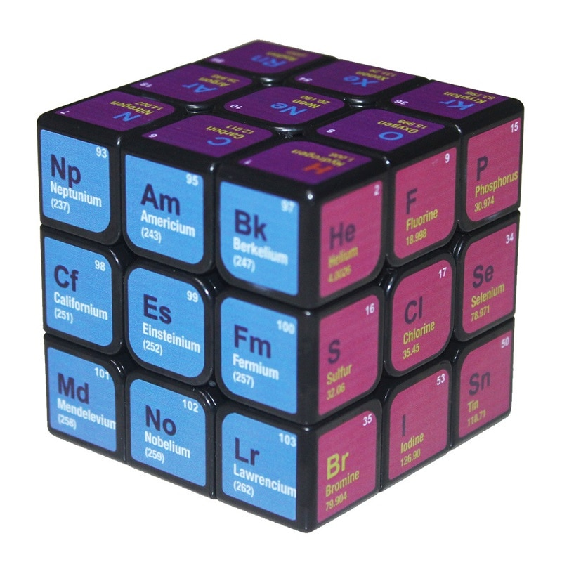 new 3x3 torsion magic cube magnetique coloful twisted cube puzzle toy stickerless puzzles colorful educational toy bandaged cube Stress Reliever Toys Magic Cube Magnetique UV Print Chemistry Learning Tool Puzzle Speed Cube Creative Educational Toy Neo Cube