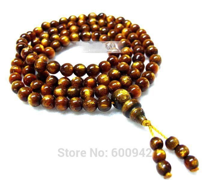 108 * sauce natural del Mar (Coral negro) meditación Mala cuentas de oración pulsera collar apotropaion