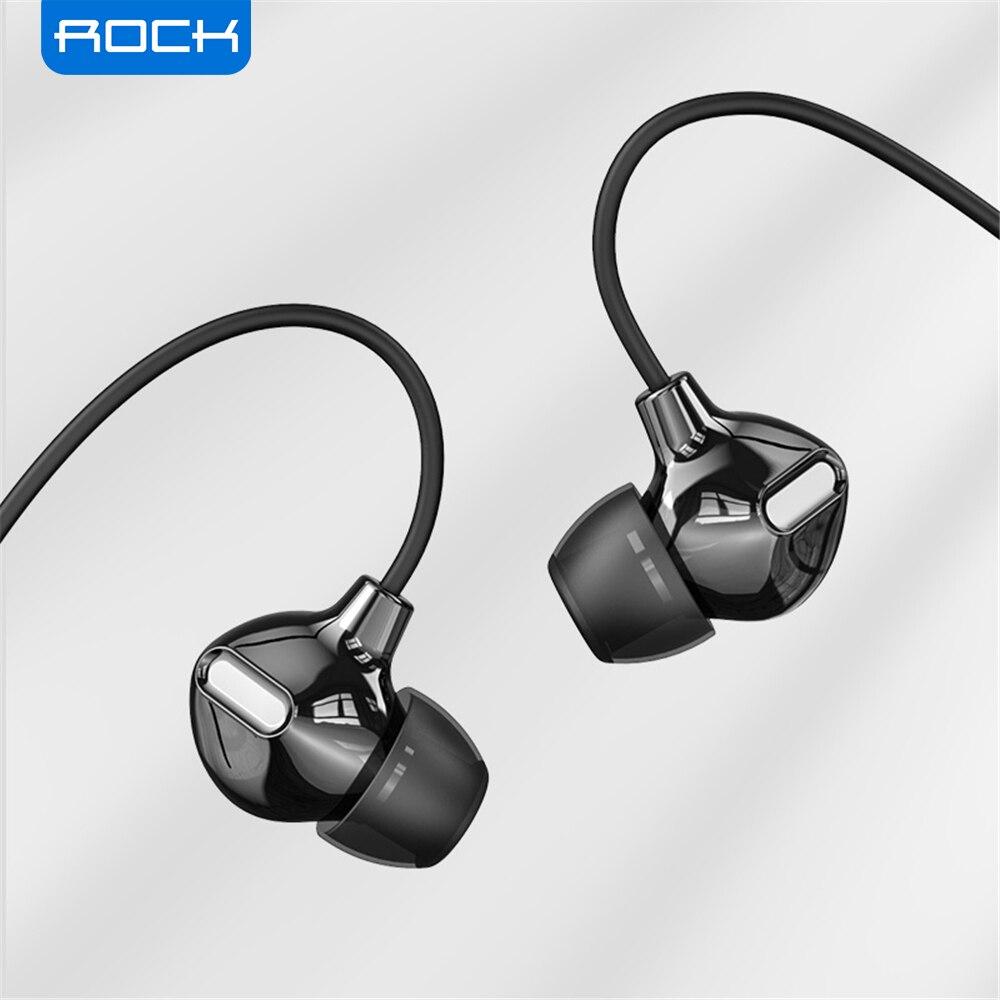 [해외] ROCK In Ear Obsidian 스테레오 이어폰 3.5mm 몰입 형 헤드셋, iPhone iPad 용 삼성 럭셔리 이어폰, 마이크 유선 이어폰