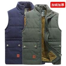 Men's Winter Fleece Warm Vest Men's stand collar zipper Outdoor Photography Fishinghy Climbing sleeveless Casual M-6XL  Jacket