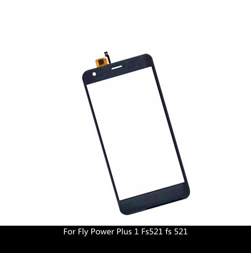 "Panel de pantalla táctil de 5 ""para Fly Power Plus 1 Fs521 fs 521, repuesto de cristal con Sensor de Digitalizador de pantalla táctil con cinta adhesiva"