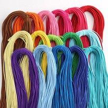 Bande élastique ronde colorée de haute qualité, corde de 2mm, corde élastique, vêtements, Shorts, accessoire de couture, 5 m/lot