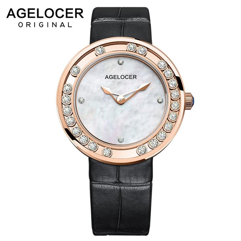 Women Watches Woman Fashion Watch AGELOCER Designer Lady Watch Luxury Diamond Quartz Rose Gold Wrist Watch Gifts For Women