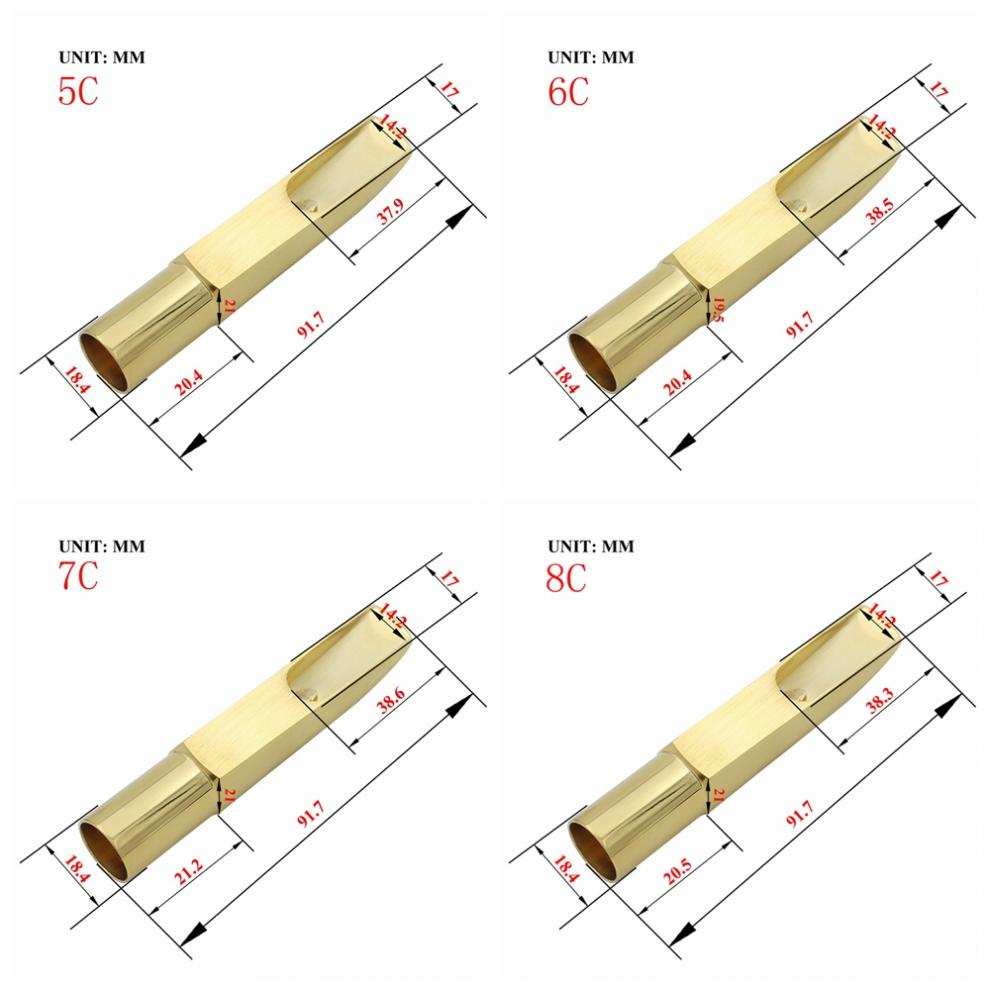 A2 Alto Saxophone Mouthpiece Metal Gold Plated Sax Mouth Size 5C 6C 7C 8C for Classical Jazz Music Saxophone enlarge