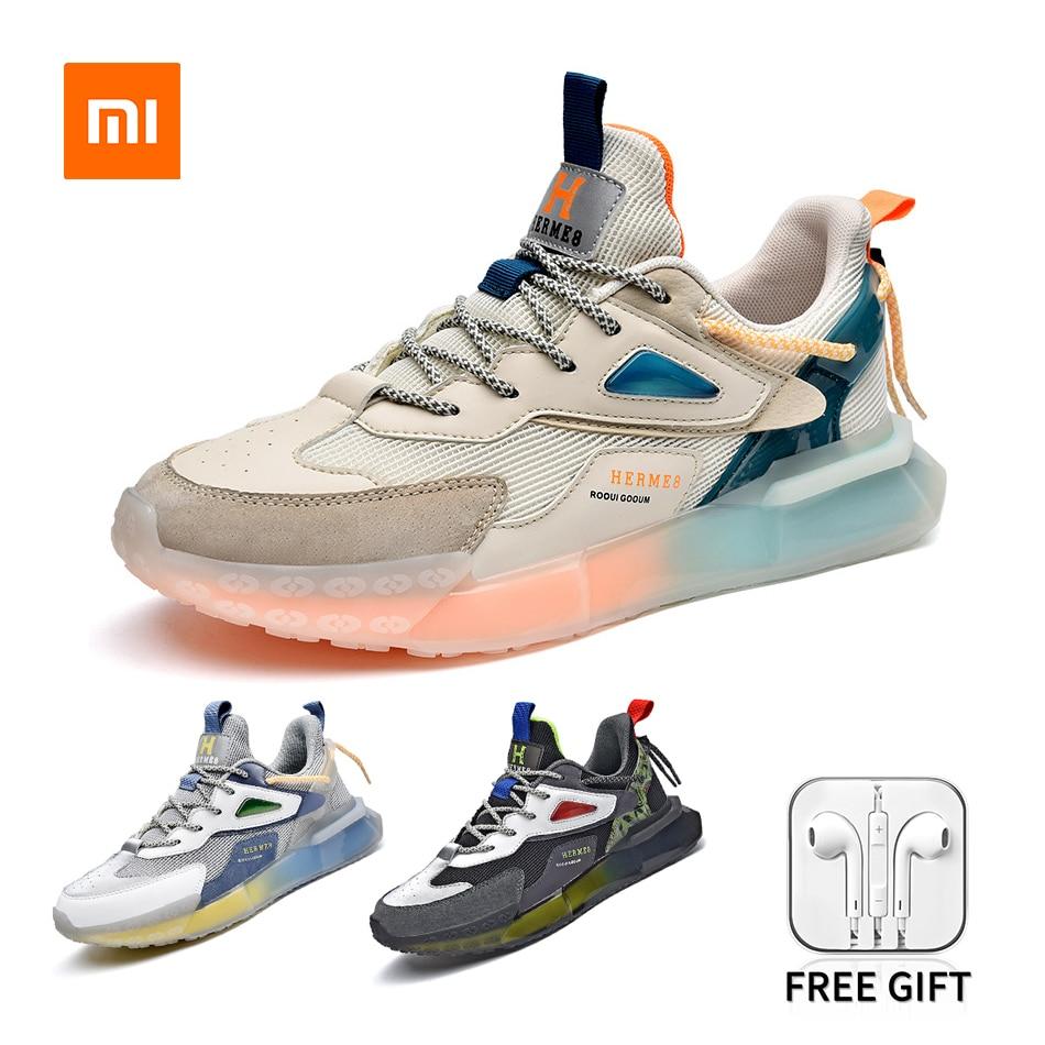 Xiaomi Youpin Seneakers Men Runng Shoes Casual Flats Male 2021 Fashion Patchwork Color Breathable La