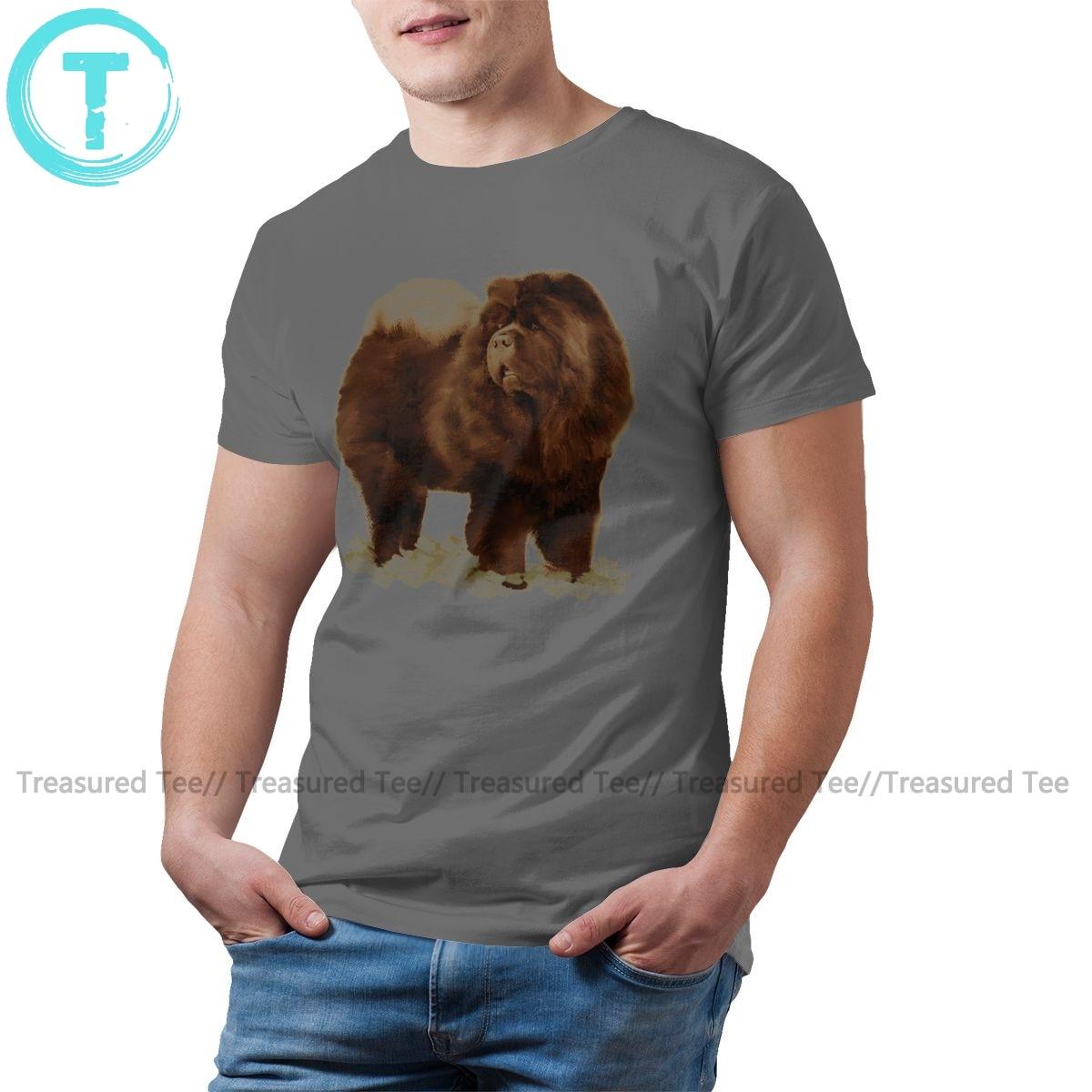 Chow camiseta negra divertida camiseta de manga corta impresa Casual hombres 100 algodón camiseta