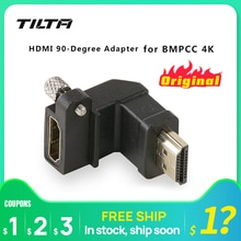 Tilta TA-T01-HDA-90 czarny kabel HDMI-kompatybilny Adapter 90 stopni do BMPCC 4K Blackmagic futerał na aparat