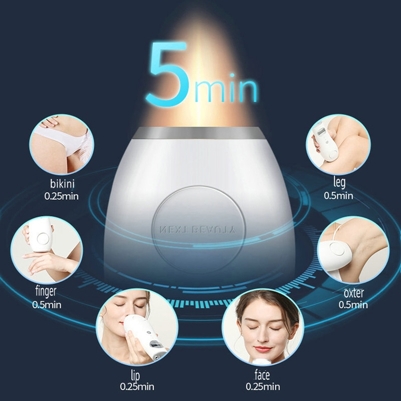 Photon Private Parts Armpit Legs Face Hand Lip Freezing Point Painless Shaving Machine Portable Home Laser Hair Removal Device enlarge