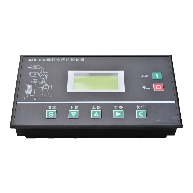 Nuevo y Original, Panel de Control de compresor de aire de repuesto, controlador Eletronic PLC MAM880B mam860b