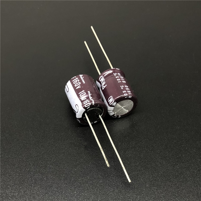 10pcs/100pcs 10uF 160V NICHICON PW Series  10x12.5mm Low Impedance 160V10uF Aluminum Electrolytic capacitor