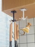 kitchen hook organizer bathroom hanger wall dish drying rack holder for lid cooking accessories cupboard storage cabinet shelf