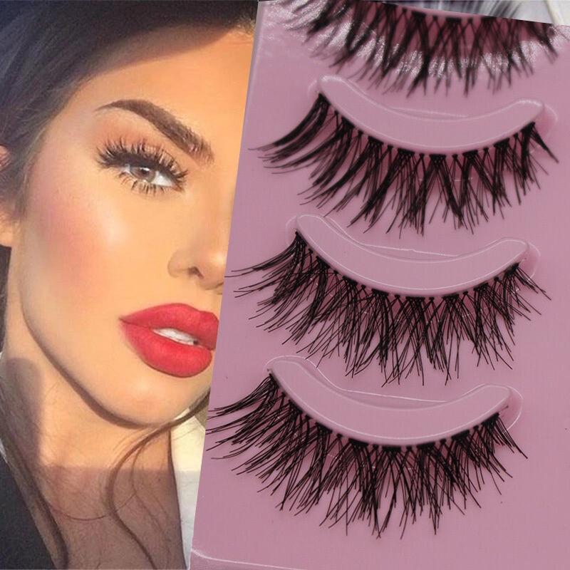 5 Pairs Natural Long Thick False Eyelashes Handmade Crisscross Fake Eyelashes Soft Eye Lashes Extension Beauty Makeup Tools