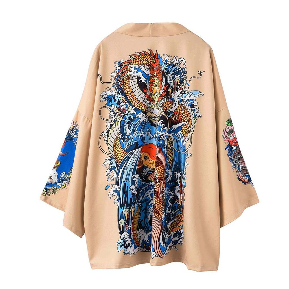 Casaco de quimono de lã masculino de haori yukata masculino samurai traje vestuário quimono jaqueta masculino causal streetwear camisa yukata haori