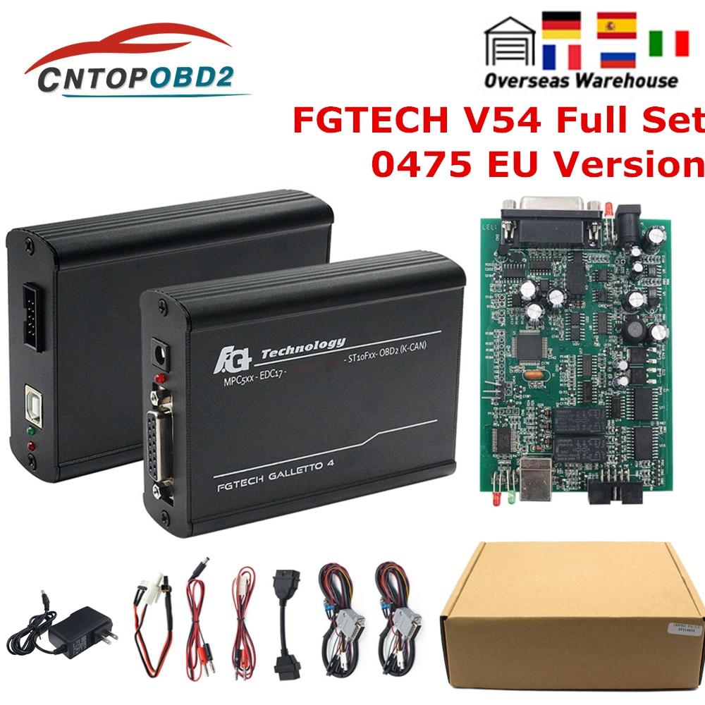 رقاقة كاملة من Fgtech Galletto 4 Master V54 يدعم 0475 FGTech وظيفة كاملة لـ مبرمج ضبط رقاقة KESS KTAG fg tech ECU