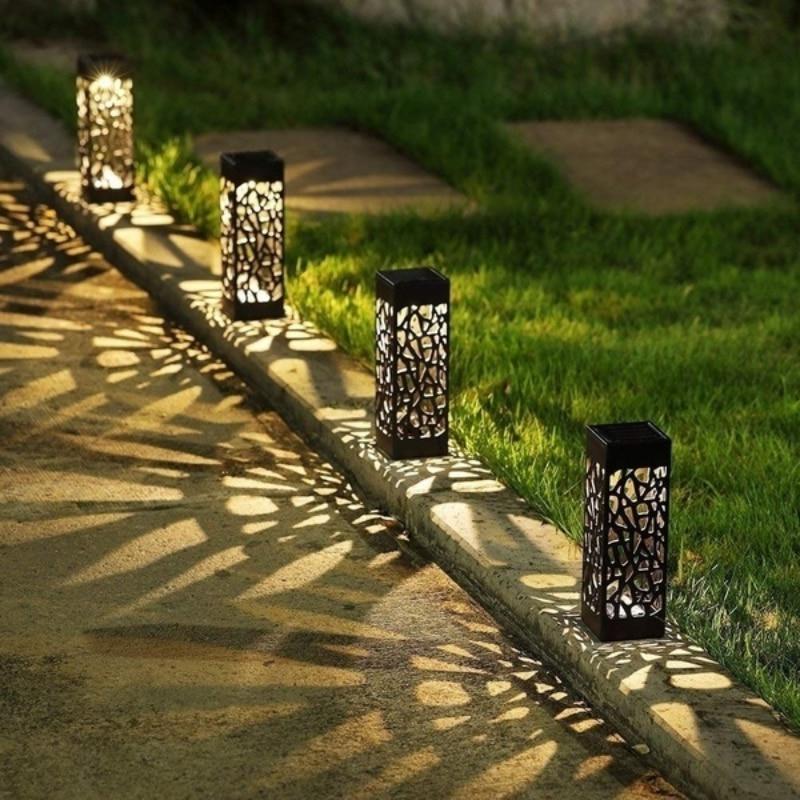 solar led lawn light warm cool white ground lamp waterproof buried garden landscape channel outdoor lighting Solar LED Light Waterproof Lawn Lamps Solar Power Lamp Outdoor LED Garden Light Landscape Buried Light Pathway Lighting Decor