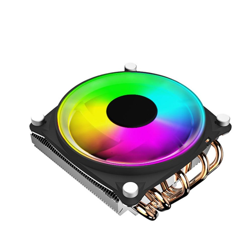 Computadora de escritorio con luz colorida, ventilador de CPU, fácil de instalar disipador de calor a presión, 5 tuberías de calor, alta eficiencia, poco ruido