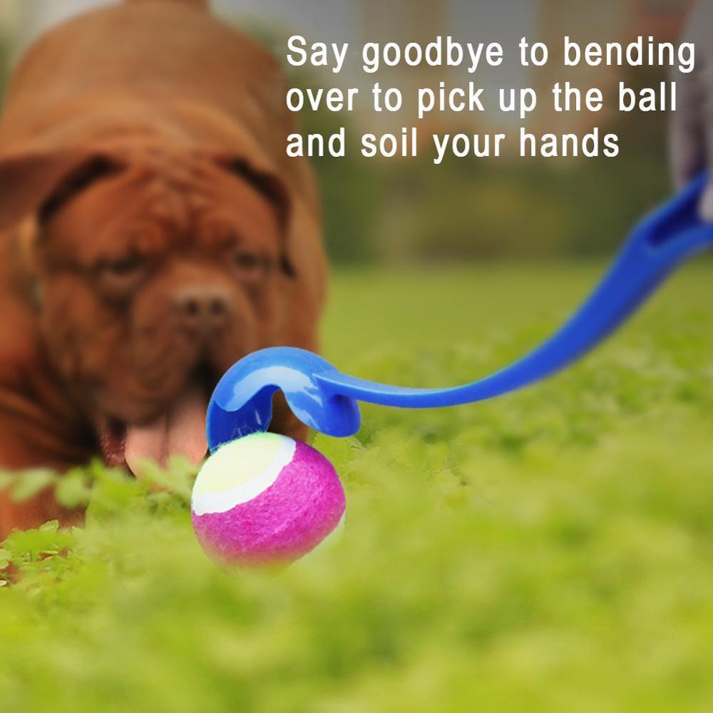 Pies piłka tenisowa Launcher zabawki do zabawy na zewnątrz szkolenie dla zwierząt rzut Fetch Heavy Duty Thrower