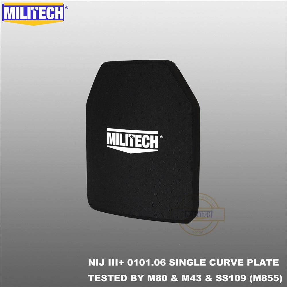 Militech alumina & pe nij iii + placa à prova de balas nij nível 3 + suporte sozinho painel balístico nij nível 3 ak47 & ss109 & m80 painel