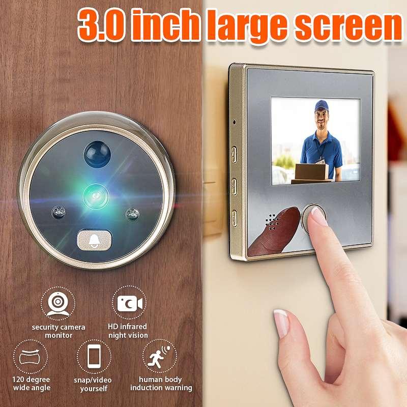 3 Inch Sy-1 TFT LCD HD Digital Door Camera Eye Doorbell Electric Door Eye Move Detection 120 degree