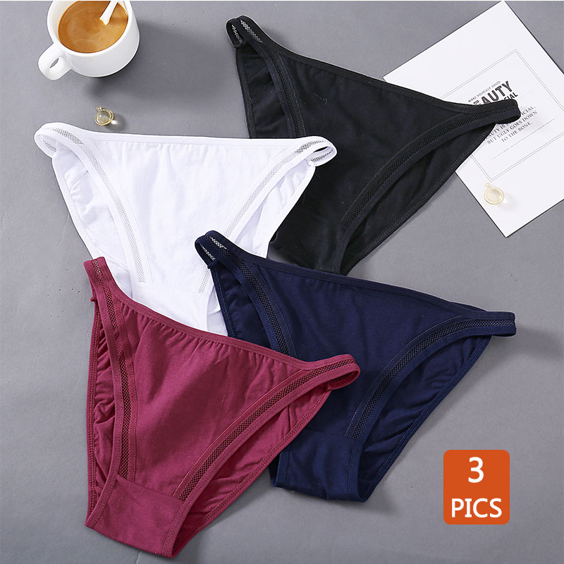 Gemütliche 3 stücke Damen Unterhose Sexy Höschen Frauen Lingereie Low-Aufstieg Baumwolle Waschbar Schriftsätze Weibliche Dessous Weiche Mädchen Höschen