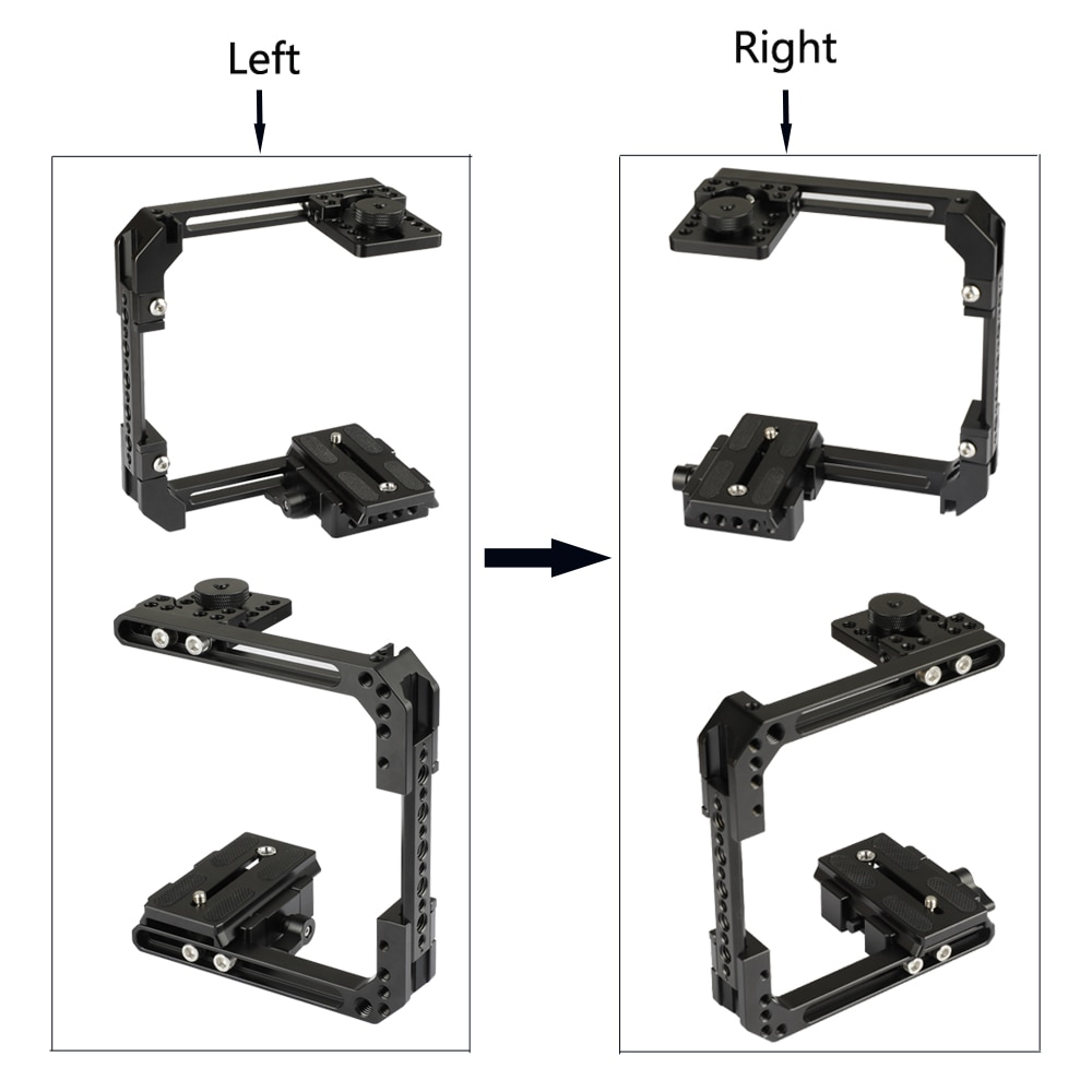 CAMVATE Camera Extendable C-frame Cage Rig With Manfrotto QR Baseplate & Cheese Bar For DSLR Cameras (Height Within 68mm ~ 130mm enlarge