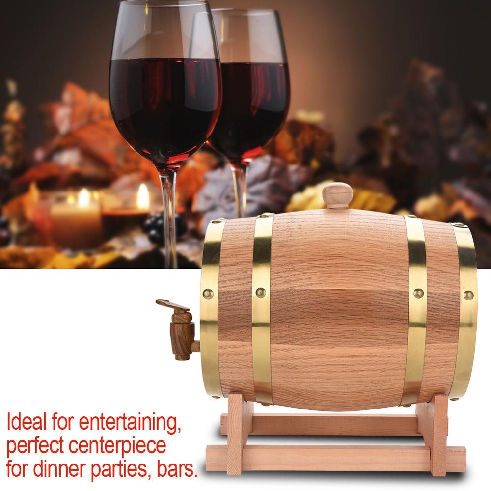 Barril de roble de 1.5L 3L, barril de cerveza, barril de vino para whisky, barril decorativo de puerto de ron, barril de roble para Hotel, restaurante, barril de roble