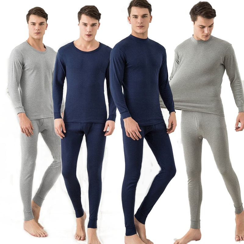 3 Sets Male Thermal Underwear Sets For Men Winter Thermo Underpants Long Winter Breathable Clothes M
