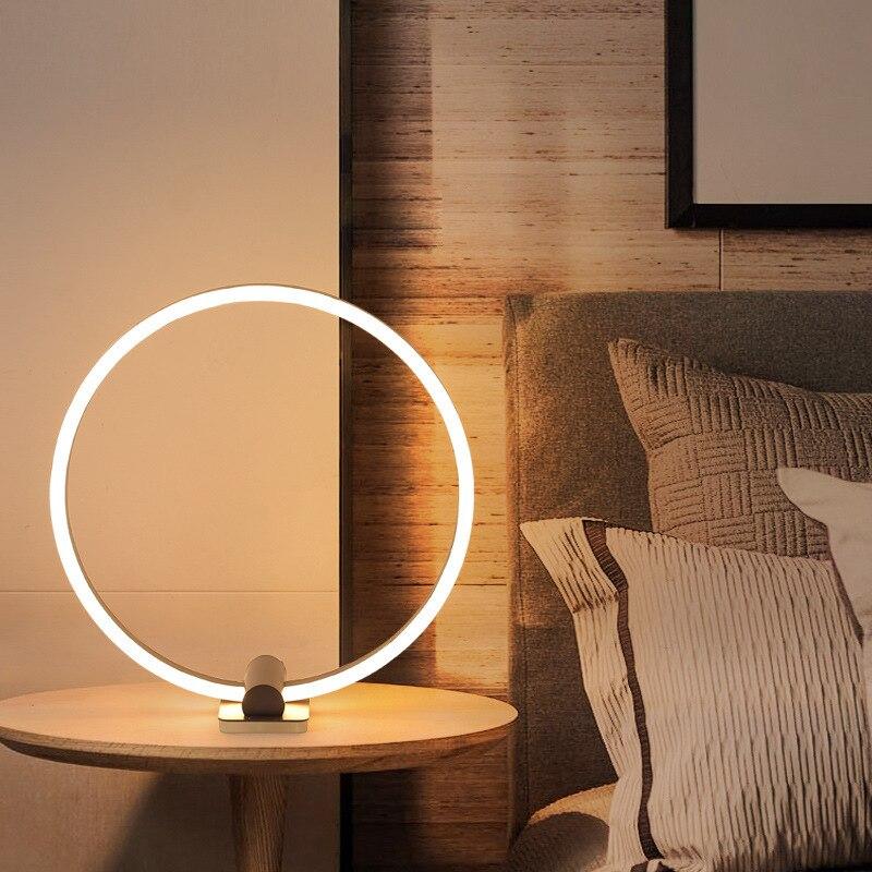Lámpara nórdica de mesa con bola de cristal led, lámpara de mesita...