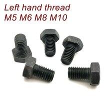 Vis filetées à gauche boulon M5 M6 M8 M10 Grade12.9 tête hexagonale boulon fileté à gauche