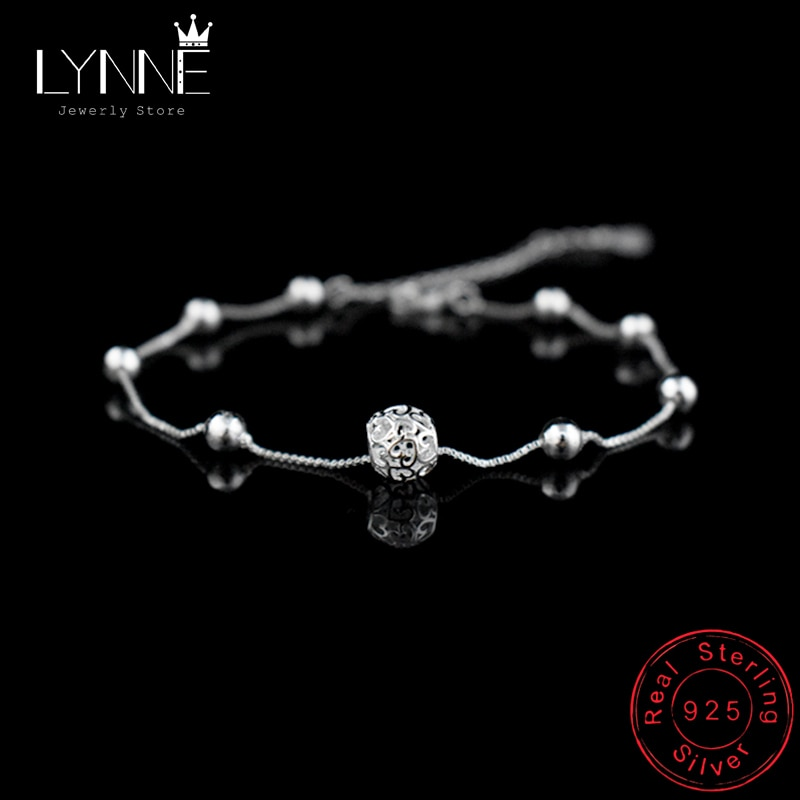 AliExpress - Hot Sale Fashion 925 Sterling Silver Anklet Chain Hollow Ball Pendant Anklets Bracelet Chain For Women's Wedding Jewelry Gift