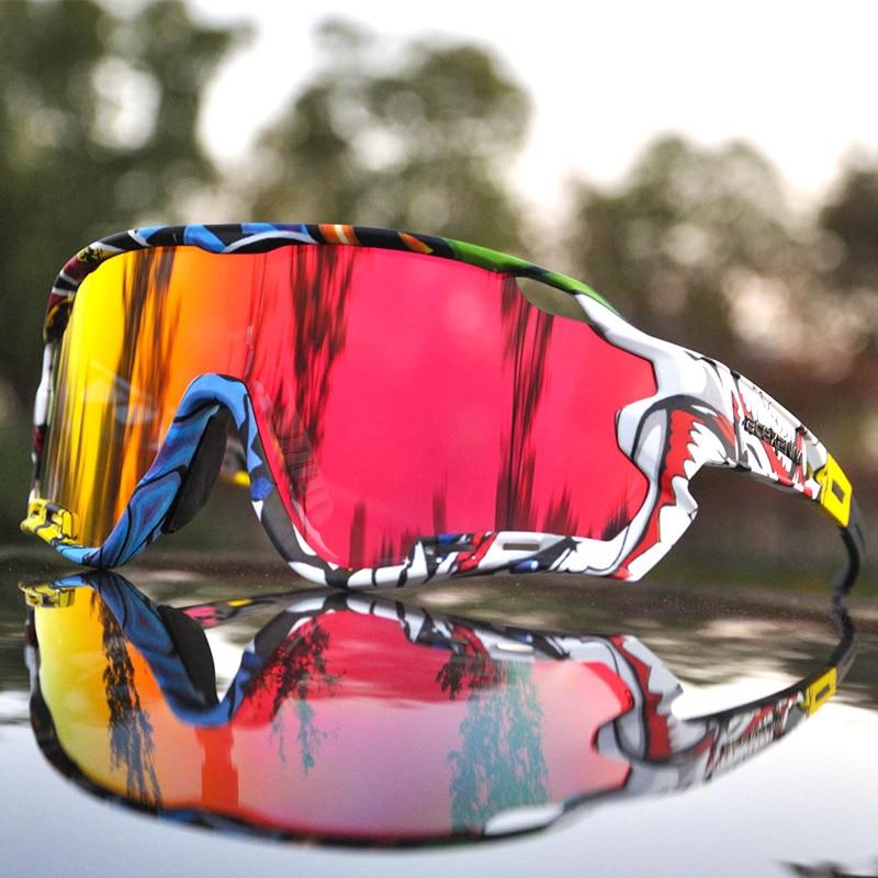 ACEXPNM Polarized Mountain Bike Cycling Glasses Outdoor Sports Cycling Goggles UV400 4 Lens Cycling Eyewear Men Women Sunglasses