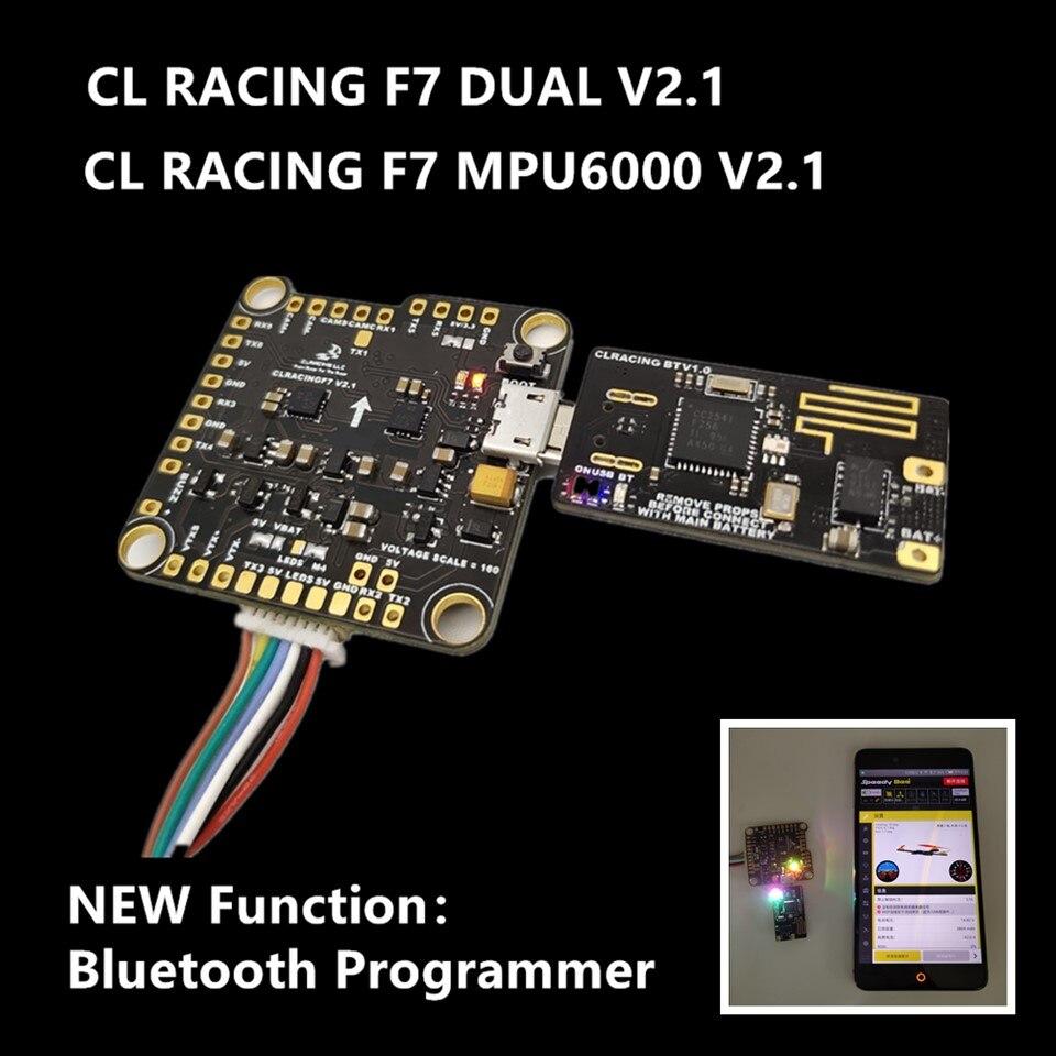 CLRACING F7 DUAL MPU6000 V 2,1 Flight Controller BT USB Programmierer Drahtlose Modul SCHNELLE BEE Unterstützung Android Appple Telefon