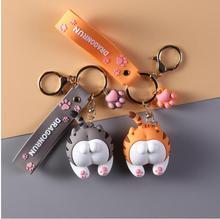 10 pièces Kawaii mignon porte-clés drôle chat bout à bout animaux jouets voiture sac créatif décoration pendentif filles jouets bijoux accessoires cadeau