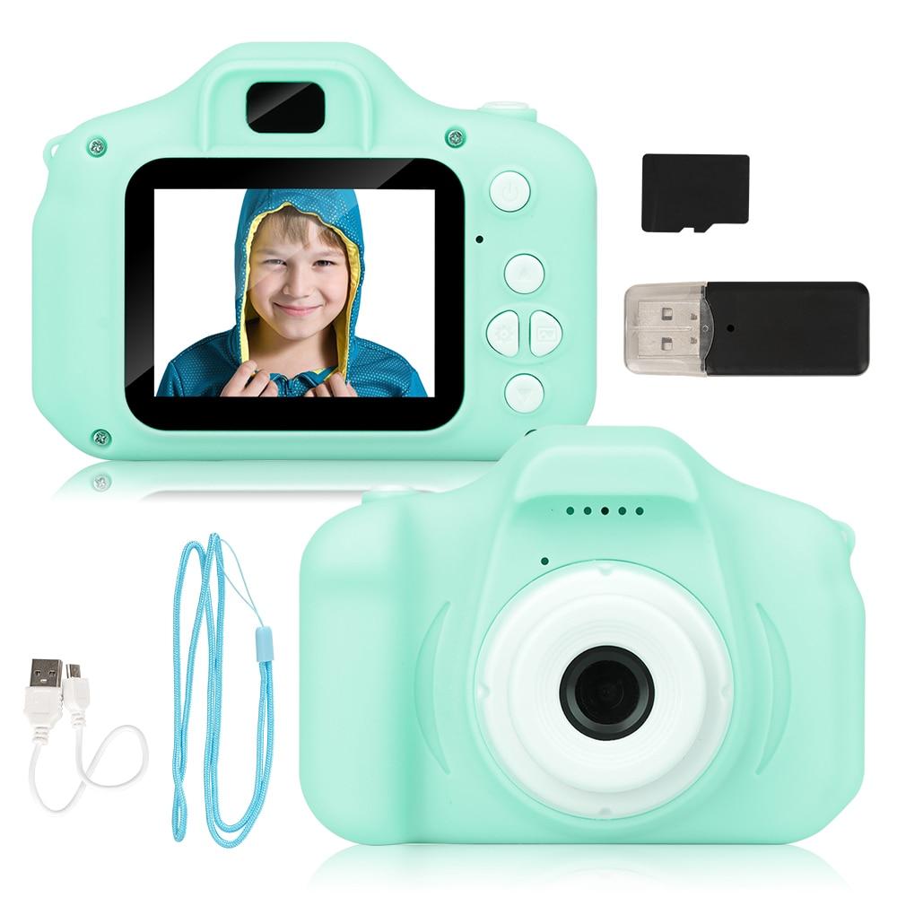 Новейшая дешевая перезаряжаемая фотокамера для воспроизведения видео зеленая синяя камера s детские игрушки 32 ГБ 800 пикселей детская камер...