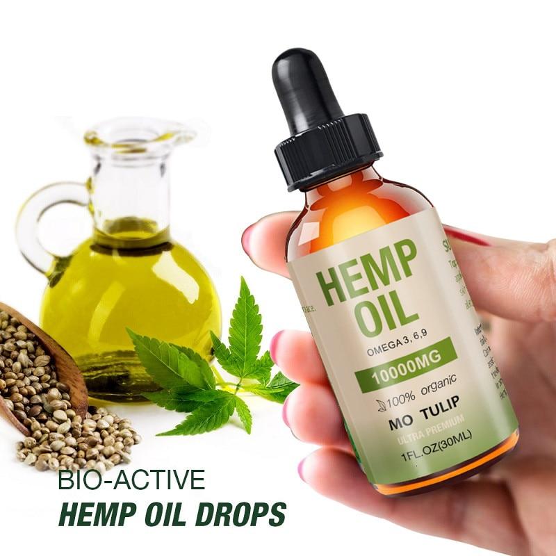 30ml 10000mg Hemp CBD Organic Essential Oil Hemp Seed Oil Herbal Drops Body Relieve Stress Oil Help Sleep