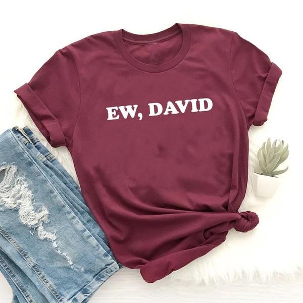 Mulheres verão fashon manga curta ew david camisas engraçado womem unissex grunge tumblr hipster camisa camisetas de rua vintage
