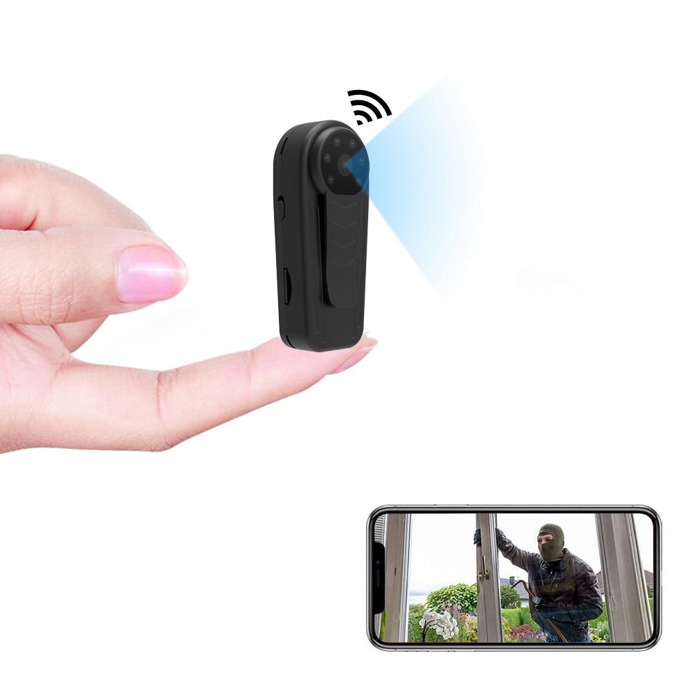 PNZEO W5-كاميرا واي فاي صغيرة جدًا ، مسجل فيديو ، رؤية ليلية ، متعدد الاستخدامات ، Full HD