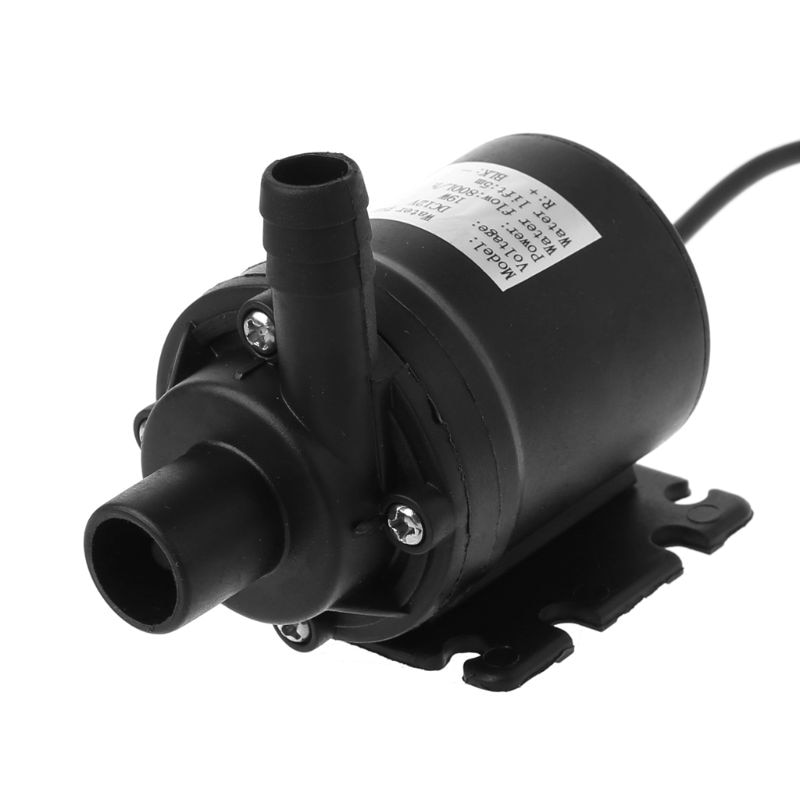 1 pcs mini dc brushless low noise water pump for solar water heater fountain 24v 350l h 2 5m mini brushless water pump 800L/H 5m DC 12V 24V Solar Brushless Motor Water Circulation Water Pump Submersibles Water Pumps