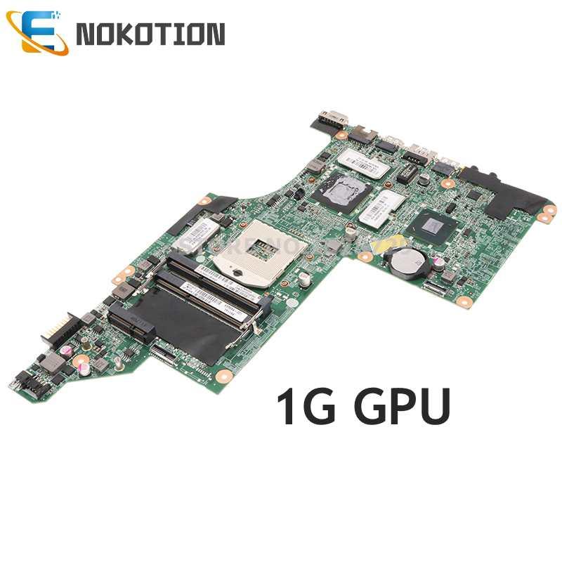 NOKOTION DA0LX3MB8F0 633554-001 اللوحة الرئيسية ل HP بافيليون DV6-4000 DV6T-4000 اللوحة المحمول HM65 DDR3 1G GPU