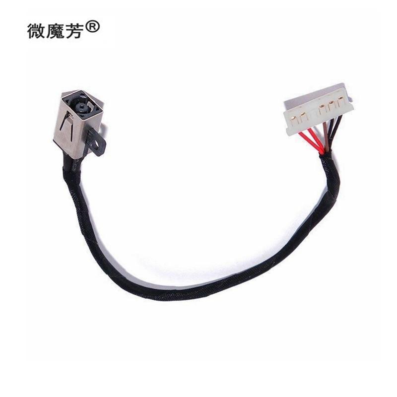 El CABLE de alimentación de CC se adapta al zócalo de carga del arnés de la serie para DELL Inspiron 15 3000 3451 3468 3558 3458 3561 5458 3552 3568 5347