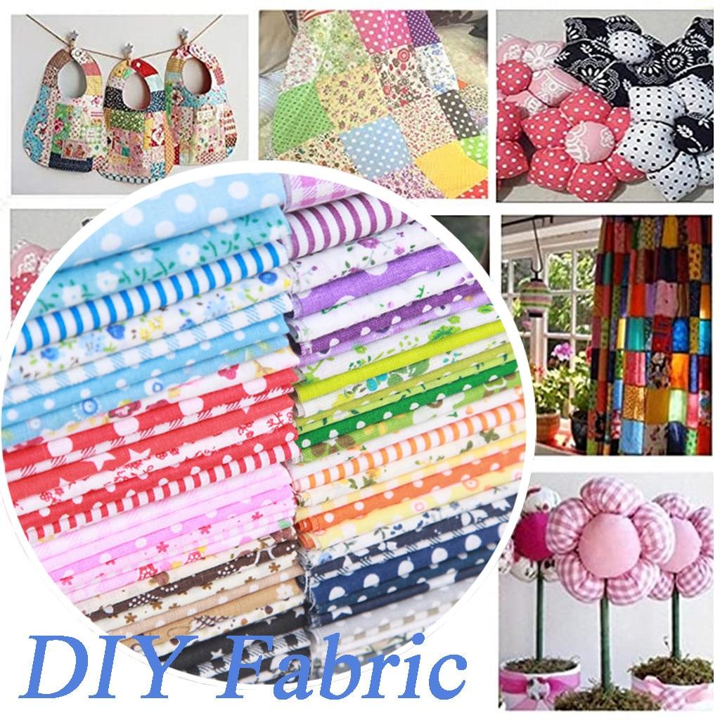 Lote de 7 Uds de tela de retales de costura de algodón con surtido de cuadrados de corte de colcha de 25x25cm para manualidades artesanales # R30