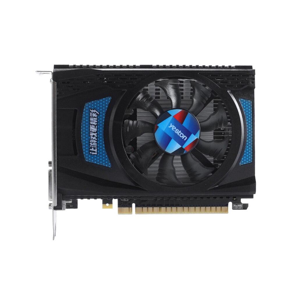 Tarjetas gráficas Yeston RX550--4G D5 Radeon Cool 4GB de memoria GDDR5 128Bit 6000MHz DP1.4HDR + HDMI2.0b + DVI-D pequeño tamaño de la GPU