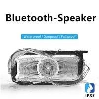 aby x3 bluetooth speaker wireless ipx67 waterproof portable heavy bass high volume home outdoor audio high power