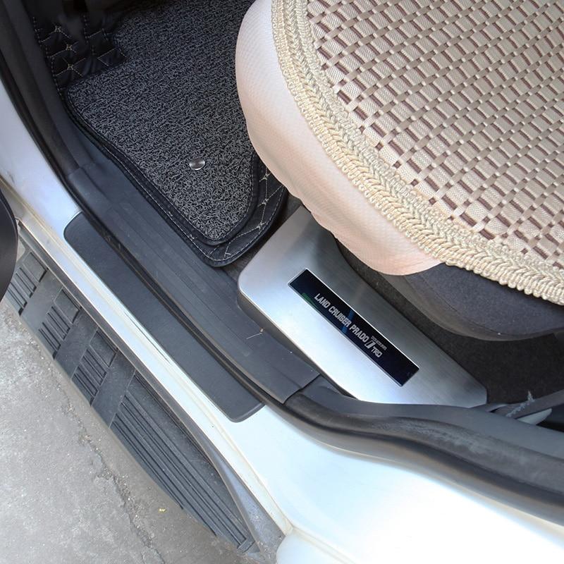Placa de desgaste interior de puerta de alféizar inoxidable para Toyota Land Cruiser Prado 120 FJ120 2003 2004 2005 2006 2007 2008 2009 Accesorios