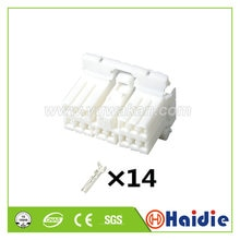 Free shipping 5sets tyco 14pin auto plastic cable wire harness female connector with terminals 36850