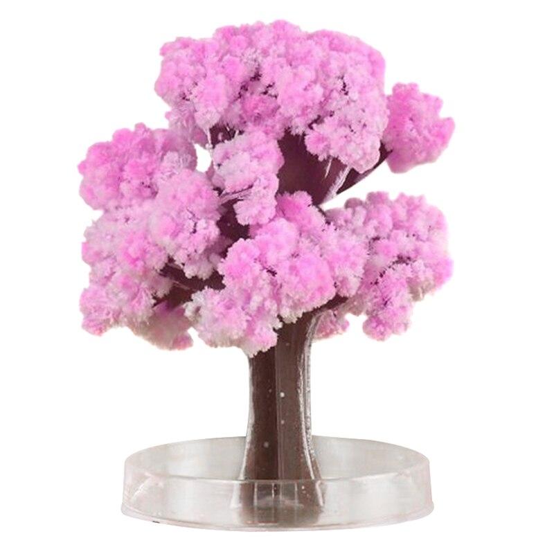 Mágica árvore crescente papel sakura árvores de cristal desktop flor cerejeira brinquedos 66cy